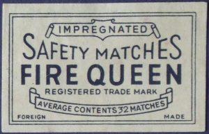 Fire Queen label, 53 x 34 mm